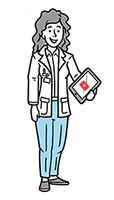 Illustration junge Ärztin